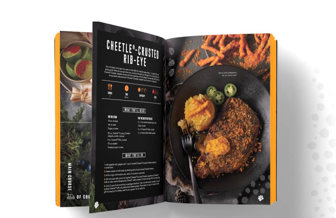 TMA partnered with Cheetos to develop the brand's first-ever holiday cookbook, Bon Appé-Cheetos.
