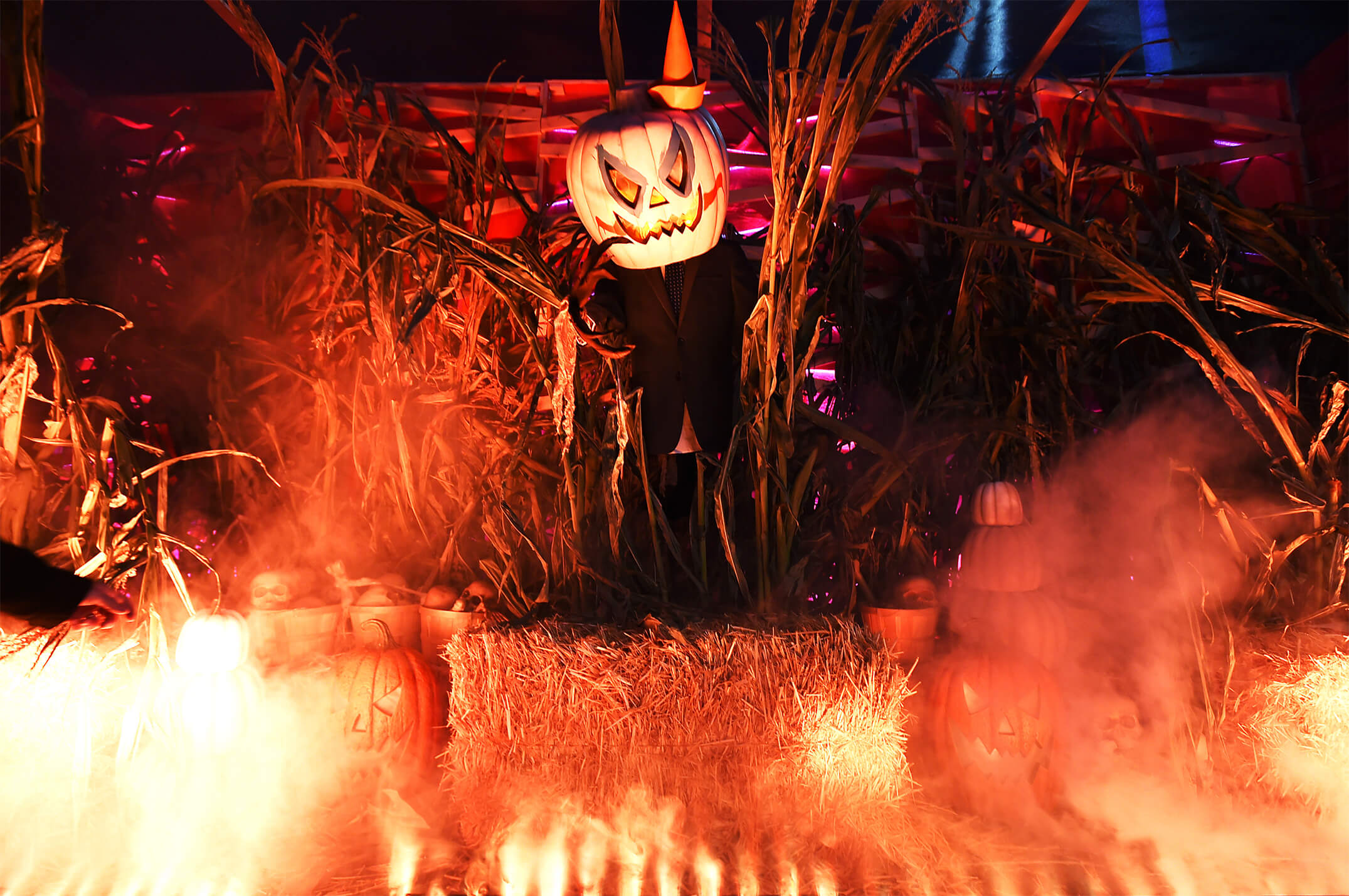 """The drive-thru experiential marketing activation included vignettes and live action scenes featuring some of the scariest villains imaginable –like a creepy clown named """"Ron,"""" a mad """"burger king,"""" and a crazy """"jack""""-o-lantern – all with striking resemblances to competitor mascots."""