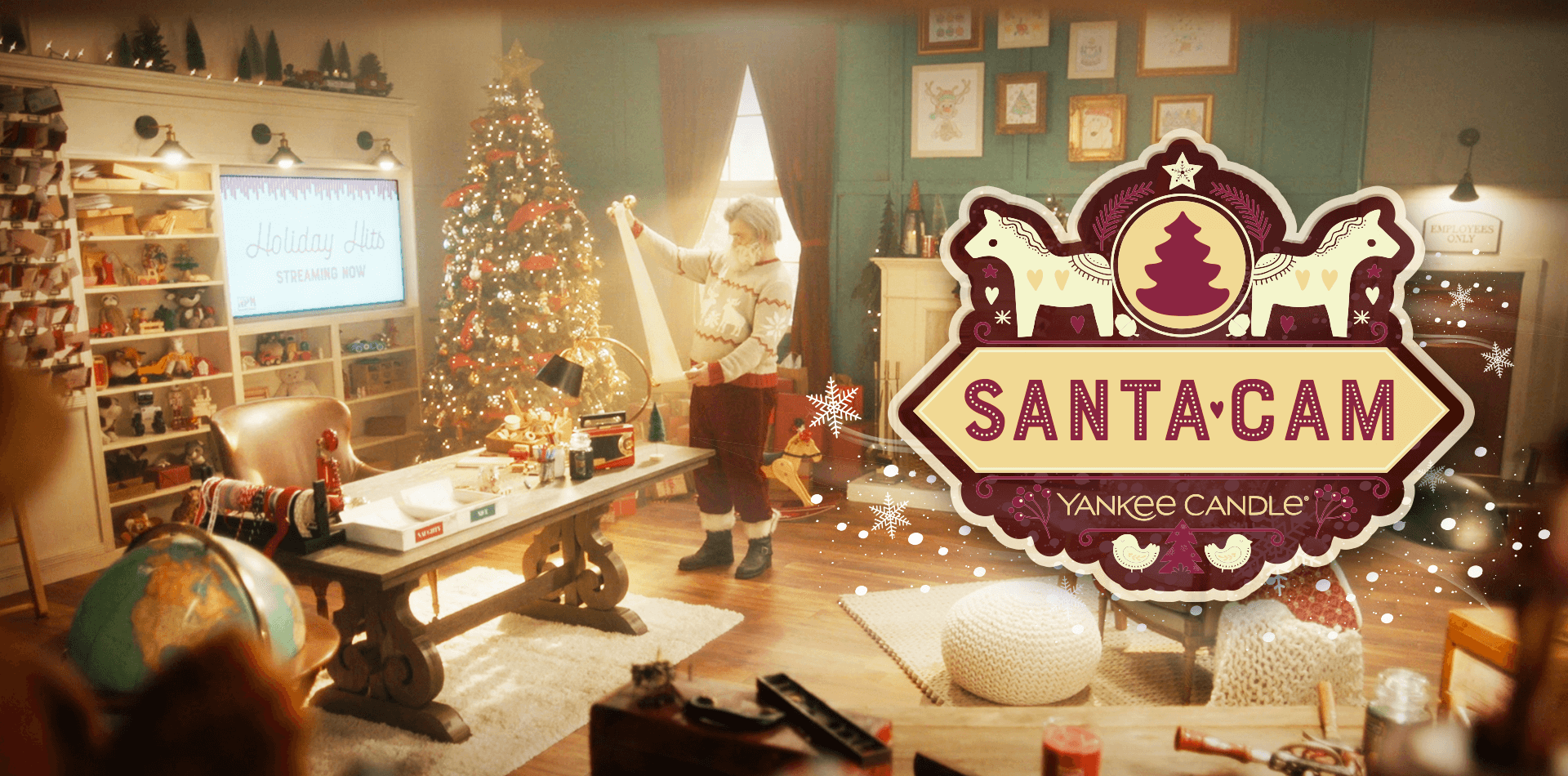 Yankee Candle and TMA saved the magic of Christmas during the pandemic with Santa Cam