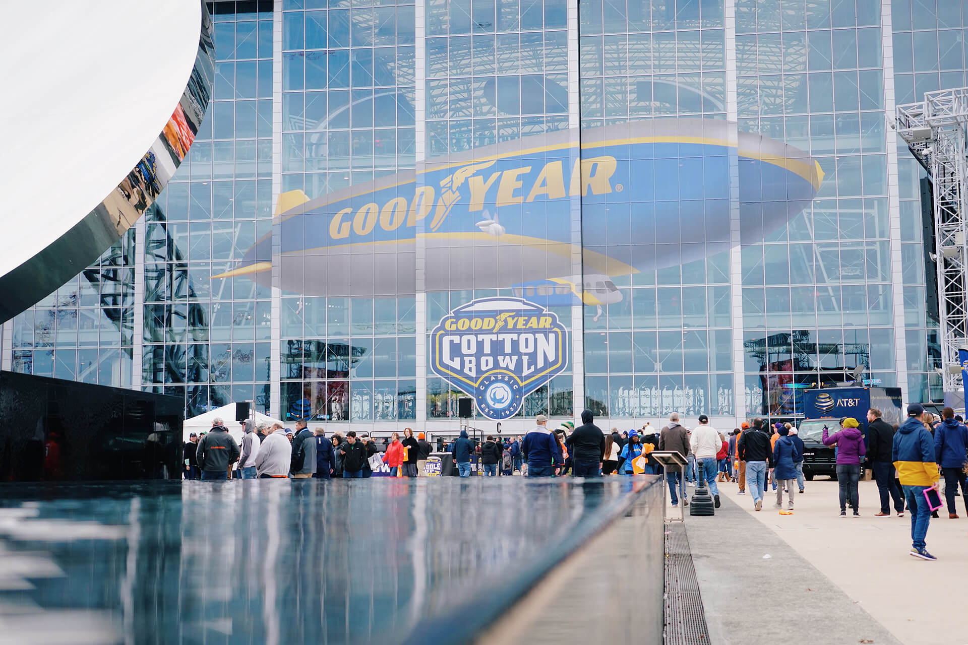 Goodyear branding in and around the stadium was a constant reminder of how both football teams and their fans have the opportunity to be blimpworthy.