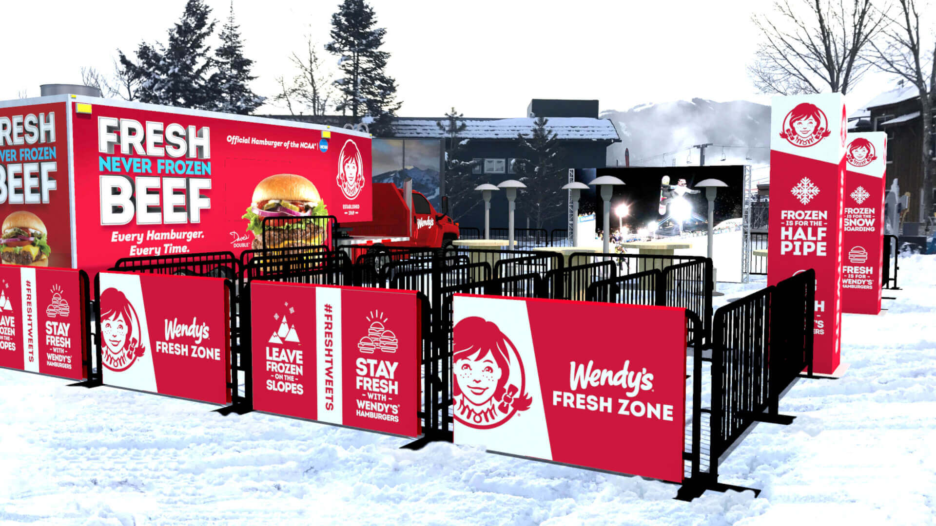 The Marketing Arm elevated Wendy's influence at the 2019 Winter X Games across its title sponsorships, on-course signage, food truck experiential activation, and photo experience high in the Colorado Rockies.
