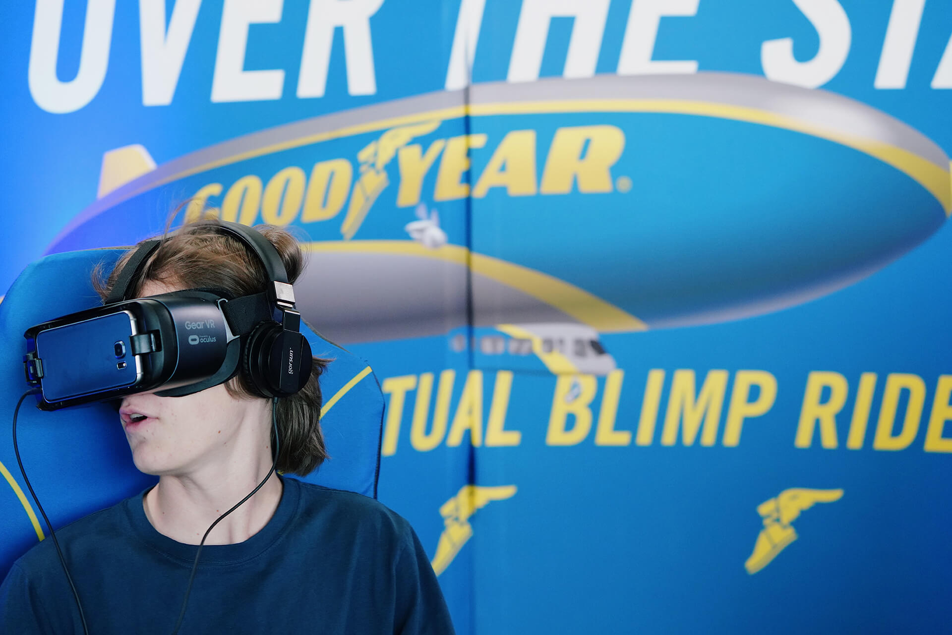 The Marketing Arm worked with Goodyear to help fans feel blimpworthy, creating a virtual simulation experience for activation attendees to ride over the stadium in the Goodyear Blimp.