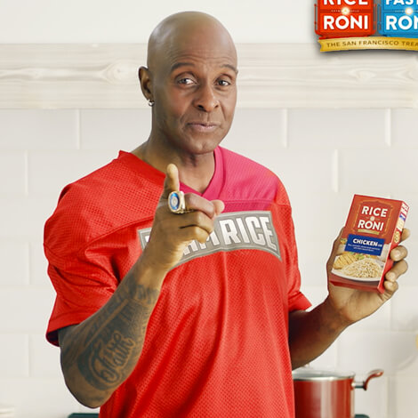 RICE-A-RONI RECRUITS A HALL OF FAMER image 6