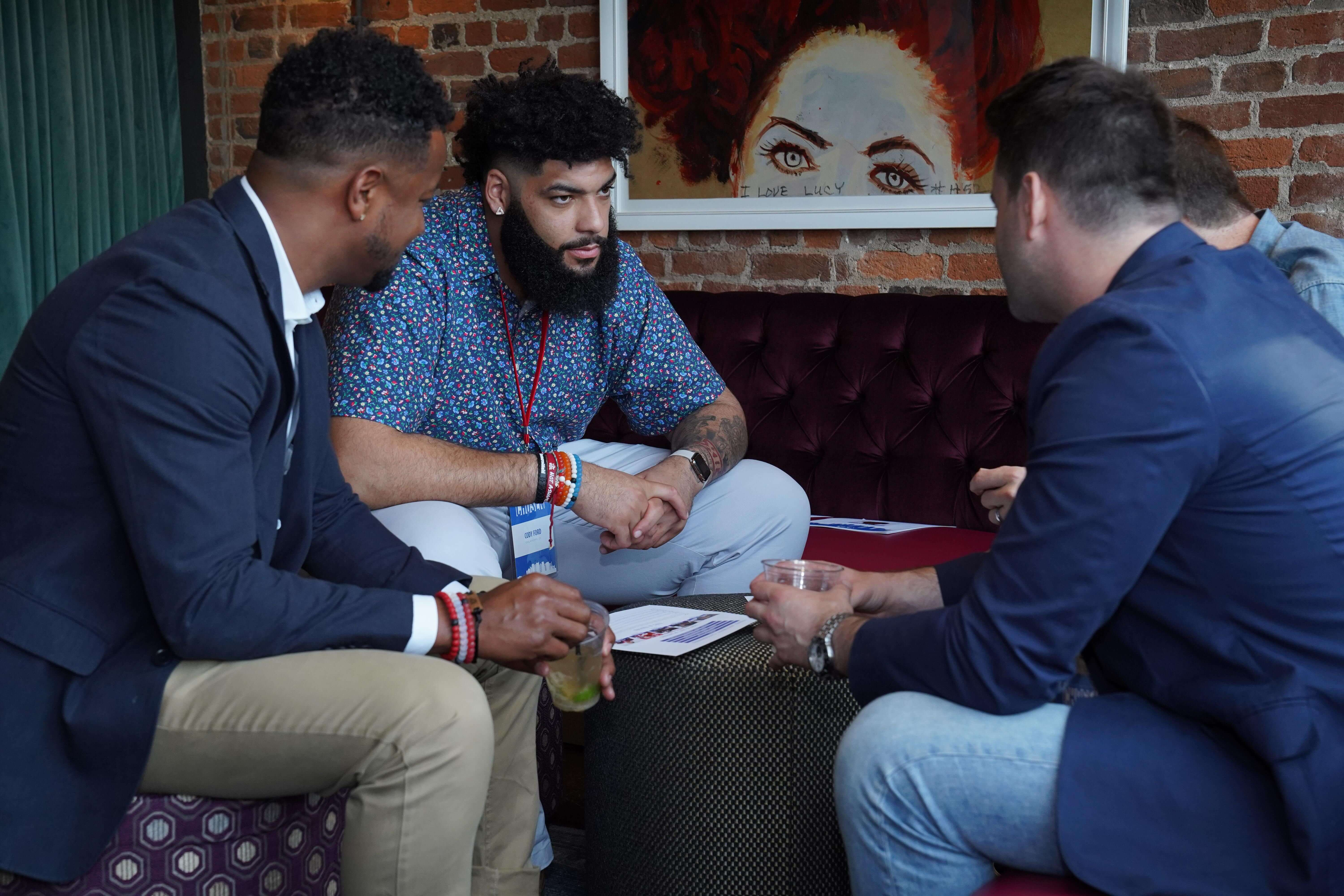 """Players met one-on-one with brand executives in a """"speed dating"""" format to uncover potential for future endorsement partnerships. Brands at CHOSEN included Pizza Hut, P&G, Mars, Goodyear, DirecTV, Nike, Dunhill, Twitch, and Draft Kings."""