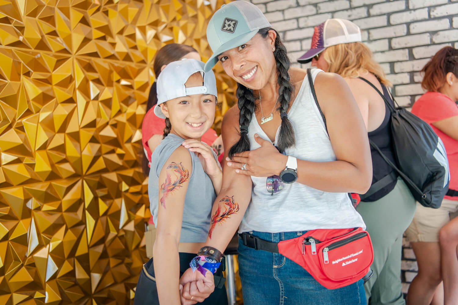 Festivalgoers of all ages visited the Neighborhood of Good, a marketing activation for State Farm developed by The Marketing Arm.