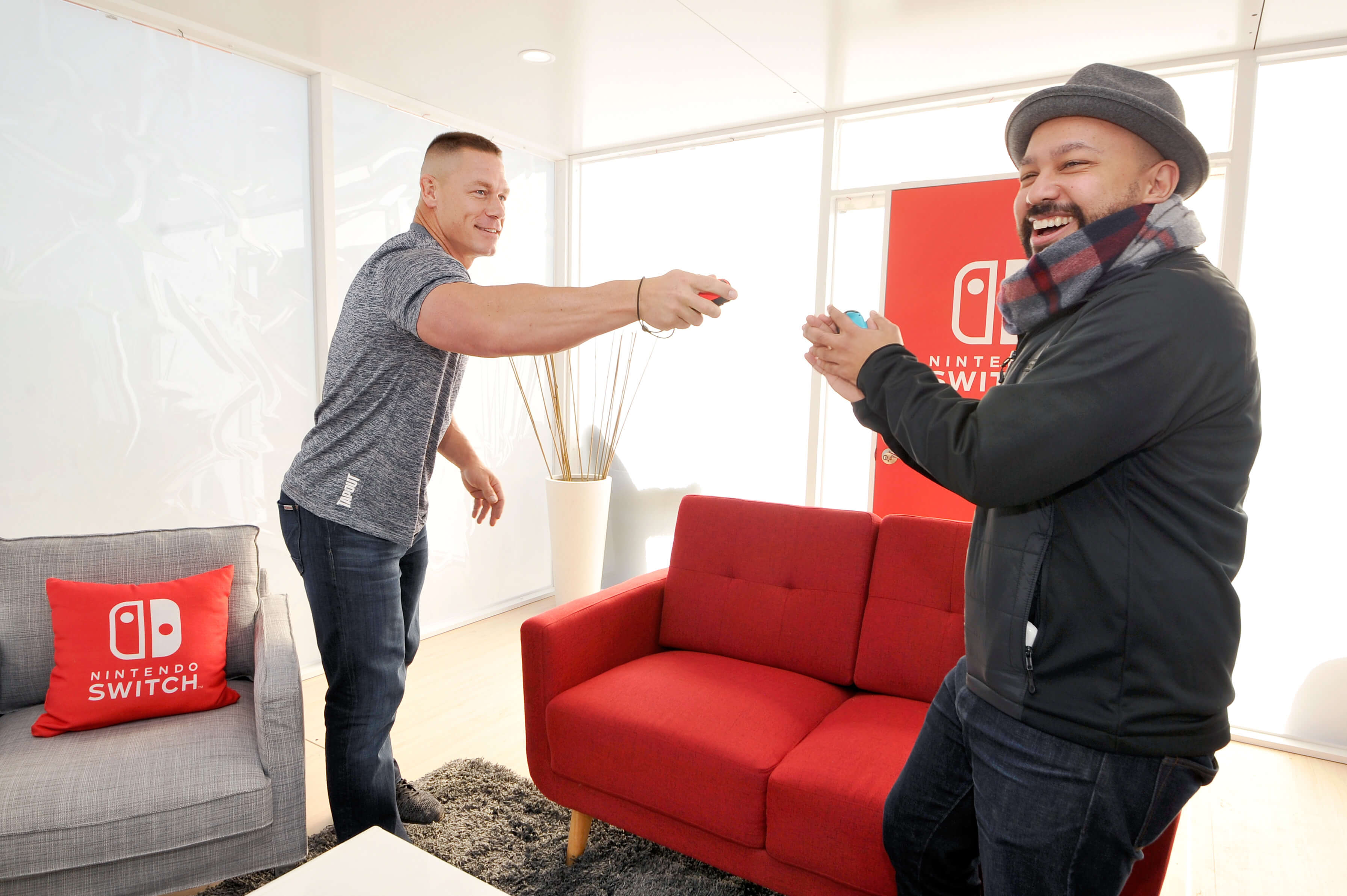 From the snowy slopes, straight to the desert, WWE Superstar John Cena showed up and showed out to challenge Nintendo fans on the Switch.
