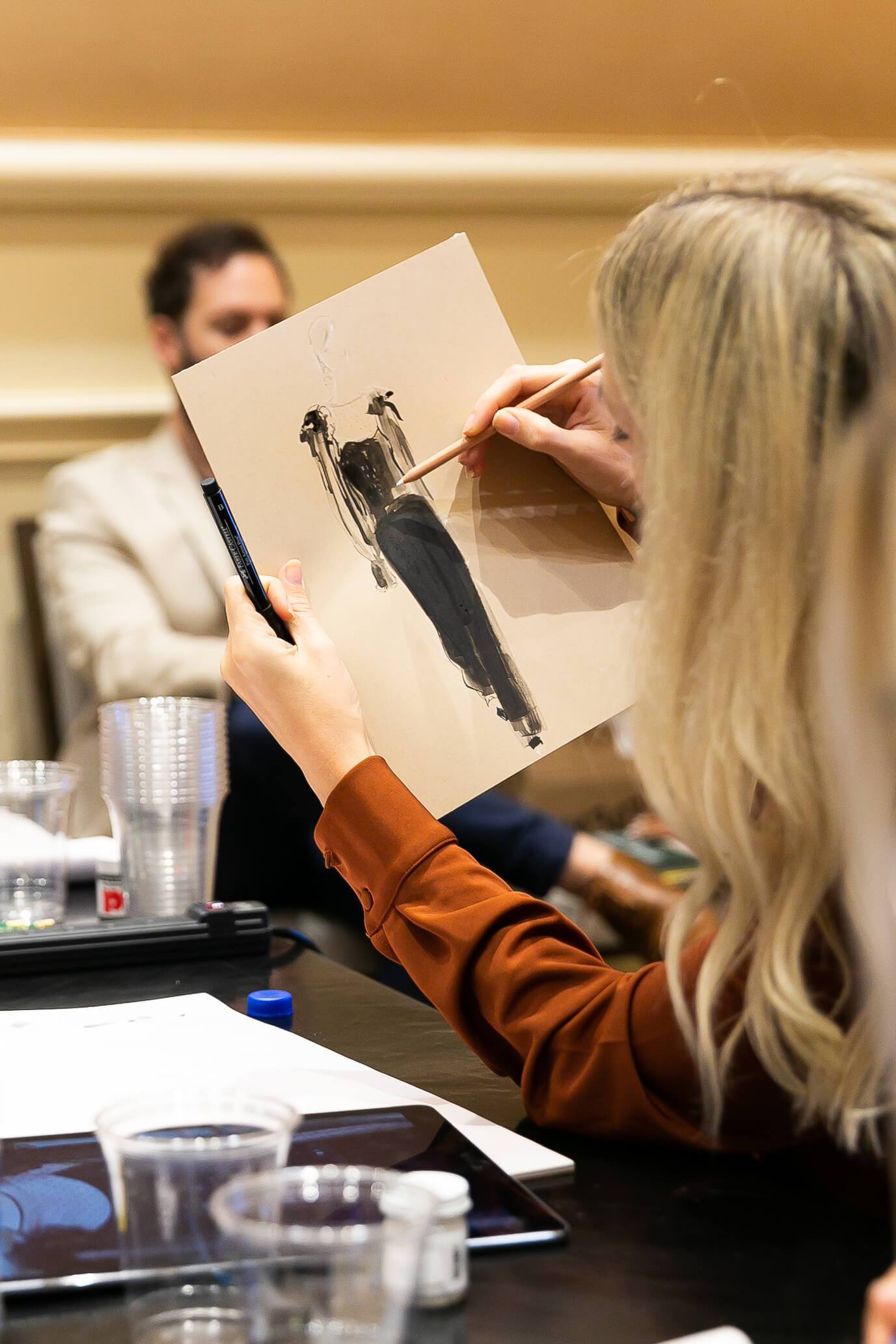 Attendees got a front row seat to learn hands-on from top influencers and creators, including fashion illustrator Jeanette Getrost.
