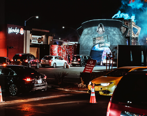 Wendy's and TMA's experiential marketing team stepped up to save Halloween during the pandemic, turning a drive thru into a Scare Thru.