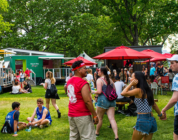 Our cause marketing boosted crowdsourcing volunteer rates at music festival experiential events.