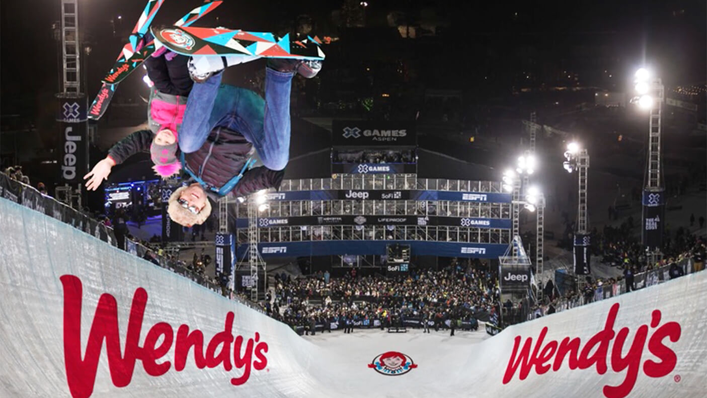 Video thumbnail: Wendy's hits the slopes with their first Ski Thru at the Winter X Games